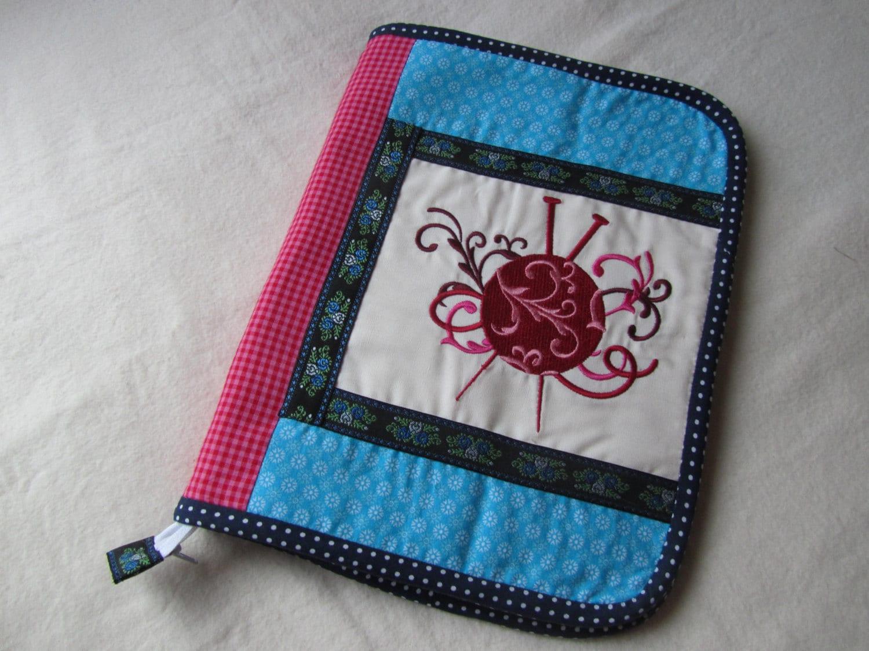 Knitting Needle Organizer Pattern : Knitting Needle Organizer Turquoise Pink with by JustDo on Etsy