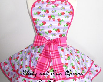 Last one Cherry Apron Strawberry Apron -only one in stock