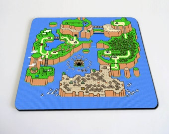 Super Mario World Map mousepad