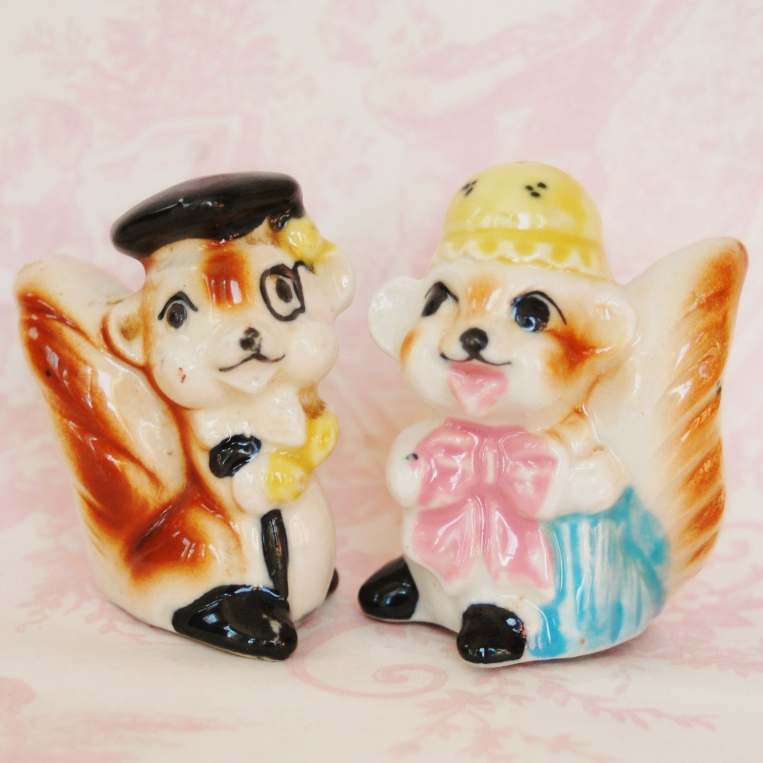 Vintage Quirky Squirrel Salt And Pepper Shakers