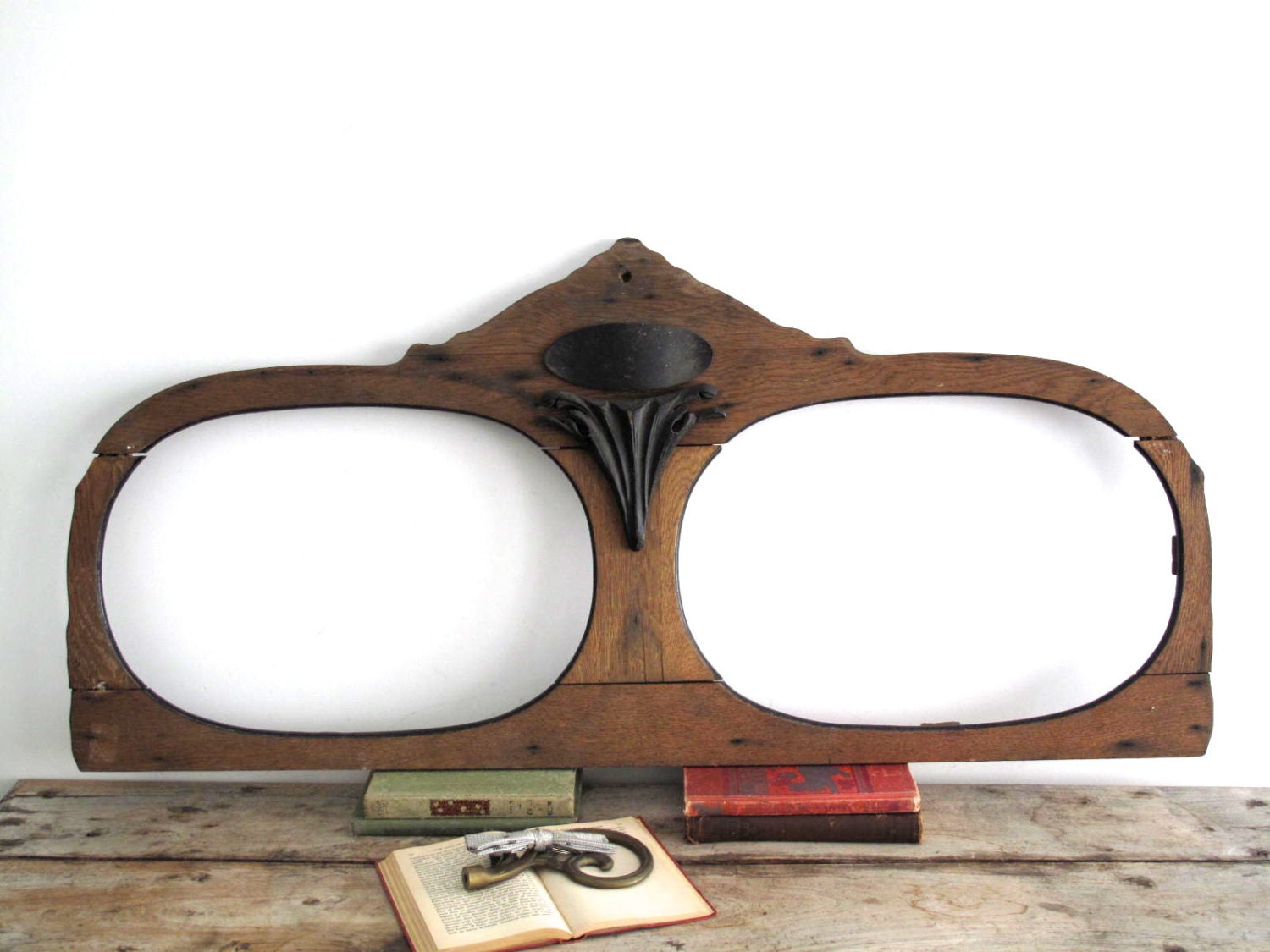 antique wood frame mirror frame wooden by snapshotvintage