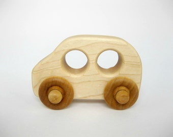 Wooden Toy Family Car, little wood toy