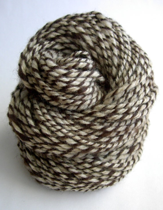 Handspun Yarn - Wild Beauty, CVM wool, baby Alpaca, undyed, organic, 3-ply, heavy worsted weight