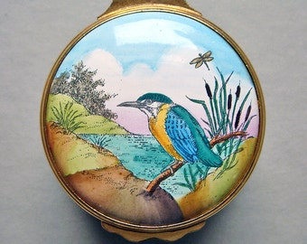 Rare Vintage Limited Edition Battersea Box - Kingfisher at Water's Edge