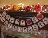 Ruby Wedding Anniversary 40th Banner Sign Garland Perfect Decoration for Anniversary Party (W17)