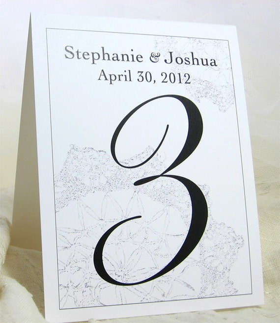 Wedding Table Number Tented Card Reception Number Traditional Reception Table Classic Wedding Table Number