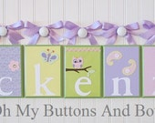 Name Letters . Hanging Name Letters . Name Blocks . Baby Name Blocks . Name Decor . Owls Butterflies Flowers Paisley