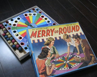 Merry Go Round Action Game by Whitman