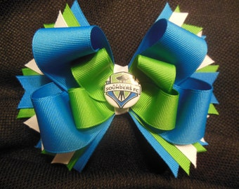 Seattle Sounder's inspired boutique bow
