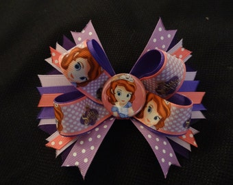 Sophia the First inspired hairbow