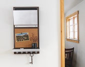 MONTANA: modern message center cork board organizer iPad holder device organization key rack mail organization wall mount office decor