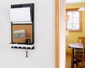 TEXAS: ipad iPhone device tablet storage modern black men wall mount organizer cork board message center for him get organized entry decor