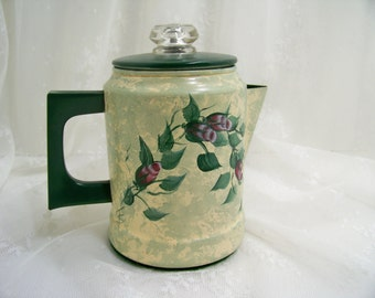 Vintage Coffee Pot Hand Painted