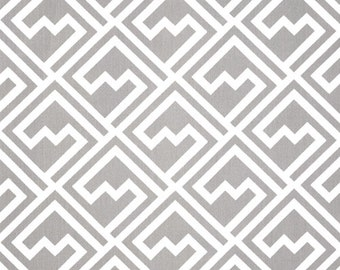 "1 Yard ""Shakes"" in Storm, Twill, Chevron Print, Home Dec Fabric"