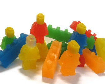 Building Blocks with People Soaps,legos, construction blocks, stackable blocks, party favor, lego movie, Kids soaps