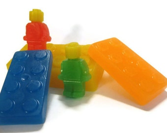 Large Blocks with 2 People Soap Set, building blocks, construction set, party favor