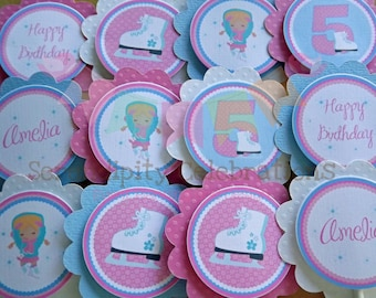 Ice Skating Collection: Cupcake Toppers
