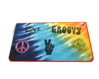 Tie Dye Checkbook Cover Peace Checkbook Cover