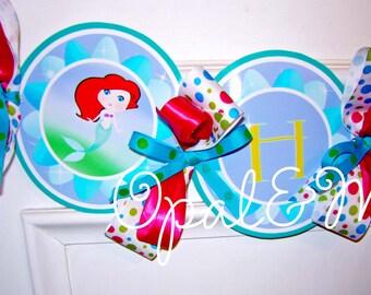 Little Mermaid Printable Party Birthday DIY Banner