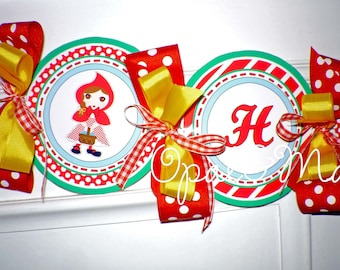 Little Red Riding Hood Printable Party Birthday DIY Banner