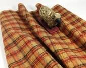 Georgia Peach Plaid, Wool for Rug Hooking, Fat Quarter Yard, J638