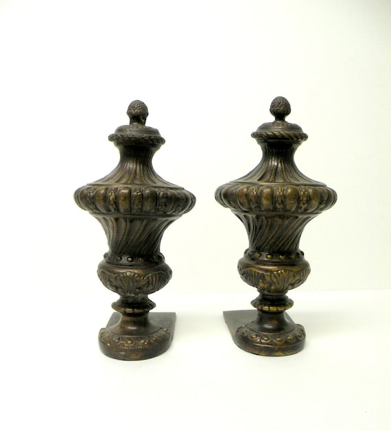 Vintage bronze brass cast iron bookends door by casualhomestyle - Antique brass bookends ...