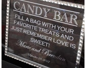 Fun Chic & Modern Wedding Candy Bar or Buffet Sign or Poster DIY Print Ready