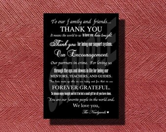 Thank You Note for Your Wedding Day
