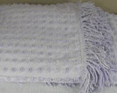 Vintage Hobnail Chenille Pale Lavender Bedspread  Item Has Been Reduced by 20%