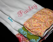 Ruffles!  Ruffles! Colorful Burp Cloth, Set of 3 - NAME/Monogram can be added