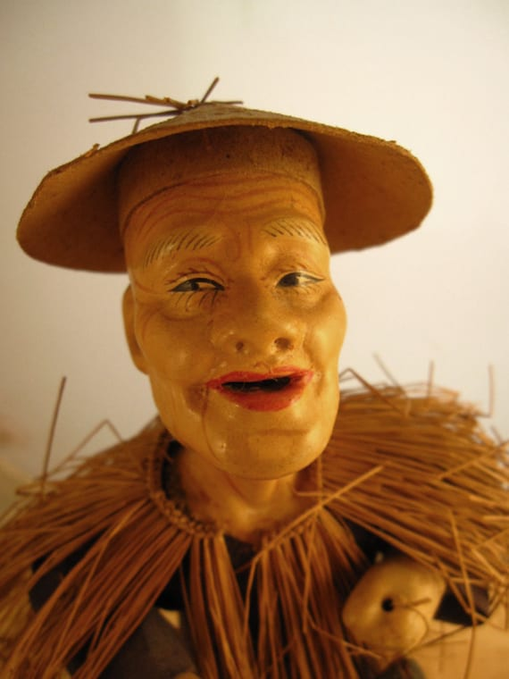 Vintage Japanese or Chinese Man Doll, Japanes ...