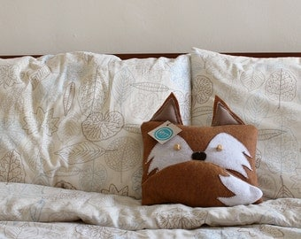 Handmade Fox Pillow With Tail