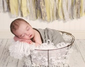 Vintage Style Wire Egg Basket (with removable rim pad)- Newborn Photography Prop- Lightweight