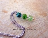 Four Leaf Clover Drop Pendant Necklace - Swarovski Crystal - St Patricks Day Jewelry