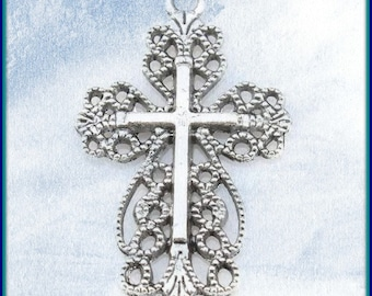 Filigree Cross Charms ( 4 pack)