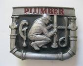 Vintage Plumber Belt Buckle C & J Inc. - GotMilkGlassAndMore
