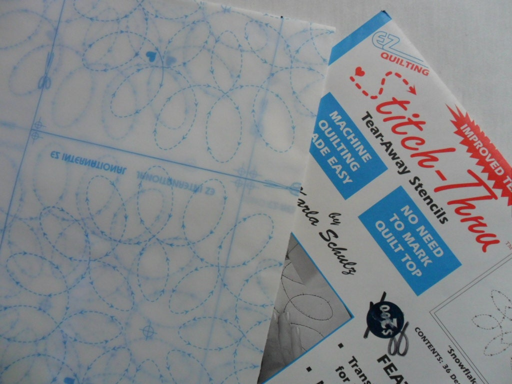 Pair Of Uncut Stitch Thru Tear Away Quilting Stencils