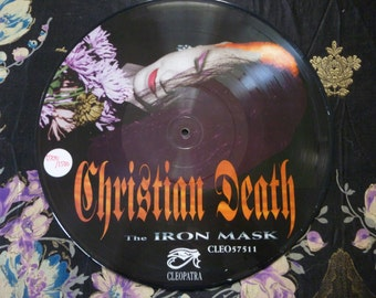 Vintage Christian Death The Iron Mask Rozz Williams Picture Disc Limited Edition Numbered Frame Worthy