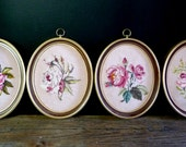 PETIT POINT ROSES Wall Cameos