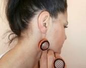 Crochet Jewelry SET - Crochet Button Earrings Crochet Ring