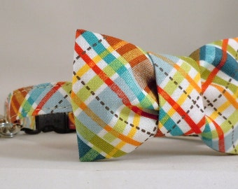 Cat Collar with Flower or Bow Tie - Pick any fabric in Shop
