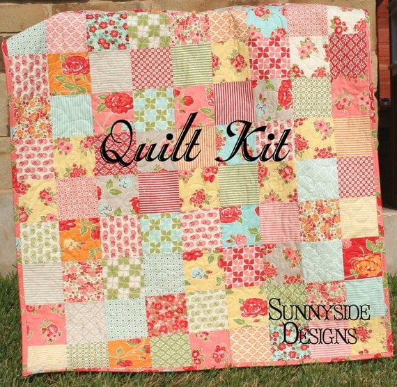 Quilt kit marmalade baby patchwork girl crib diy do it - Quilt rits ...