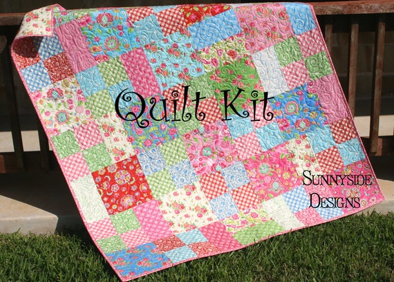 Quilt Kit Gypsy Girl Whimsy Quilt Pattern Diy Do It Yourself