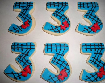 Birthday Party Custom Sugar Cookies decorated in royal icing for ...