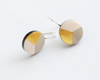 Hand painted geometrical Dangle earrings