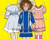 Downloadable PDF original Paper Doll - My Favorite Dolls - set 1