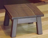 "Reclaimed/ wood / Walnut/ step stool/ foot stool/ riser/ 10"" H/ misson style"