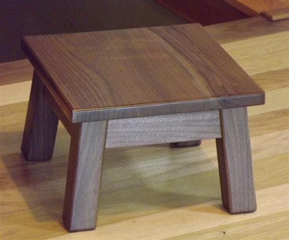 Reclaimed Wood Walnut Step Stool Foot Stool Riser