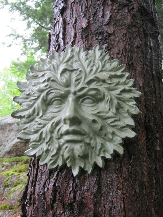Green Man Face Concrete Garden Decor Cement By