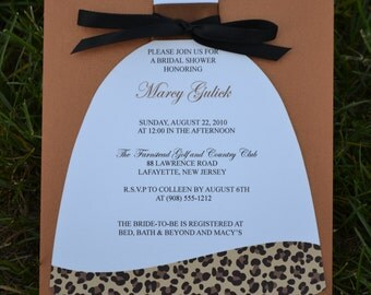 Leopard Print Bridal Shower Invitation